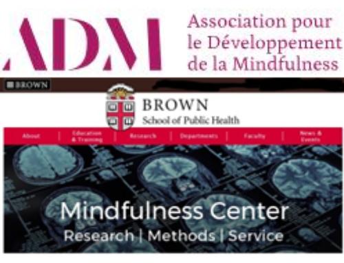 L'ADM rejoint le réseau du Mindfulness Center de Brown University